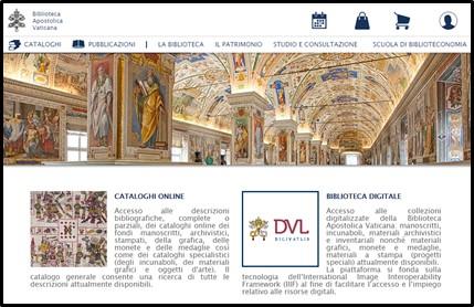 Home Biblioteca Vaticana