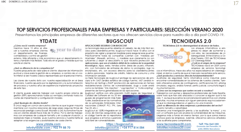 ABC agosto tecnología TECNOideas