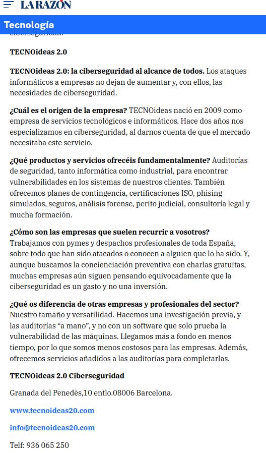 TECNOideas en La Razón