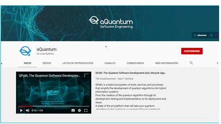 La ciberseguridad en tiempos cuánticos. En el canal de YouTube de aQuantum  hay webinars introductorios a la programación cuántica.