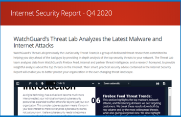 Informe WatchGuard 4º T de 2020