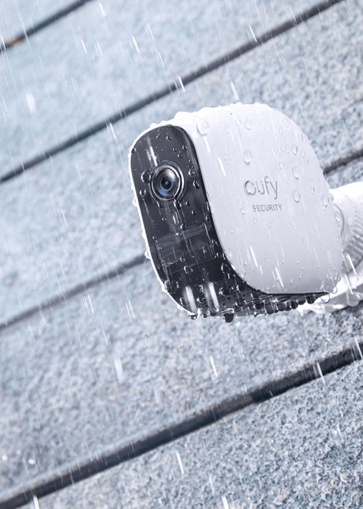 Vulnerabilidades en el protocolo WiFi y en cámaras de videovigilancia. Cámara exterior de Eufy.